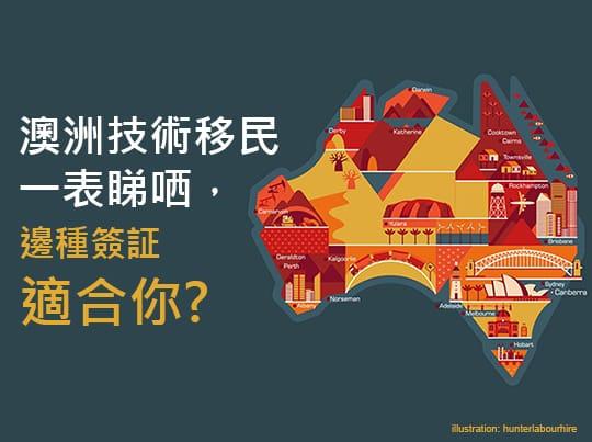 澳洲技術移民簽證一表睇哂,邊種簽証適合你?